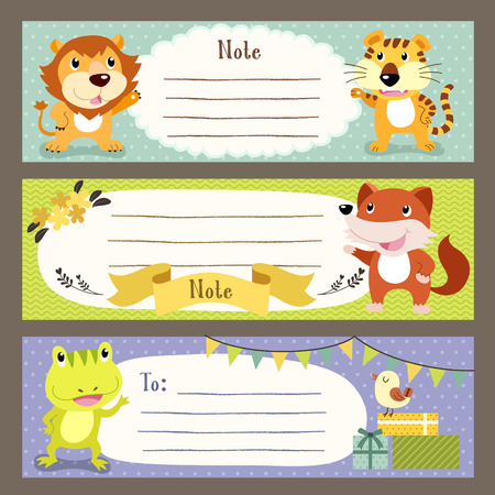 memo: lovable diverse animals memo paper collection set