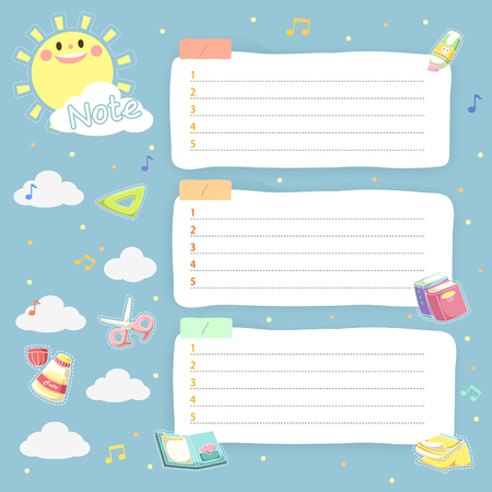 lovely plan schedule memos set for children