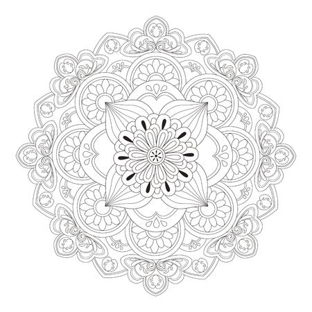 白と黒の絶妙なマンダラ模様