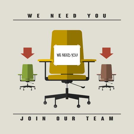 vacancy: job vacancy concept in flat design style Illustration