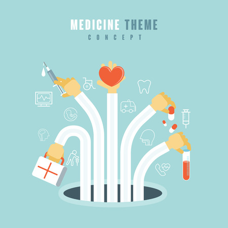 surgery concept: medical theme concept in flat design style Illustration