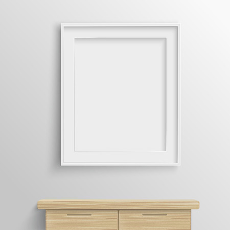blank canvas: elegant blank canvas isolated on grey wall