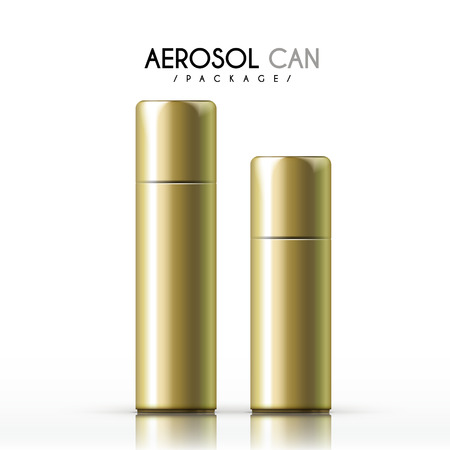 aerosol: aerosol can package isolated on white background Illustration