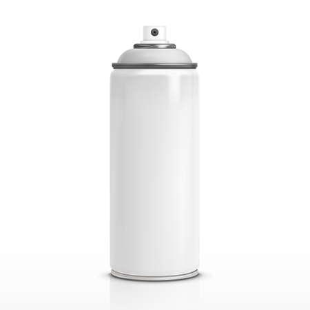 spr�hflasche: leere Spr�hflasche isoliert auf wei�em Hintergrund