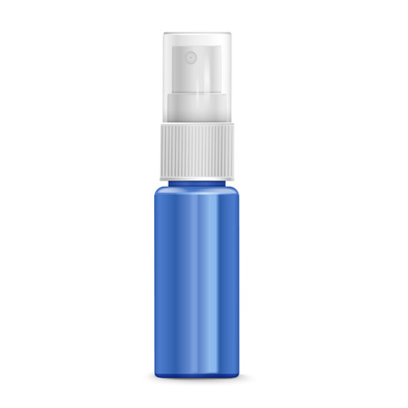 aluminum: cosmetic spray bottle isolated on white background Illustration