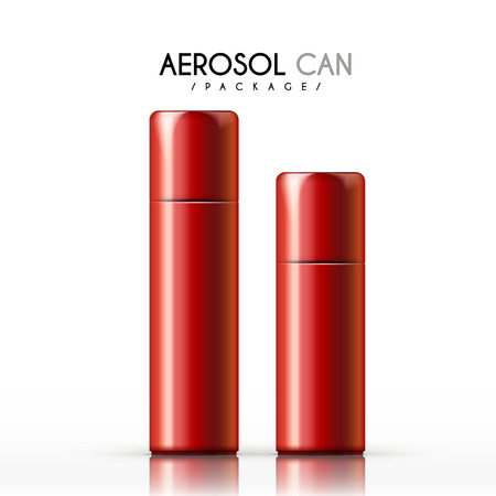 red hair: aerosol can package isolated on white background Illustration