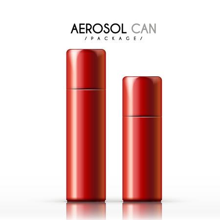 aerosol: aerosol can package isolated on white background Illustration