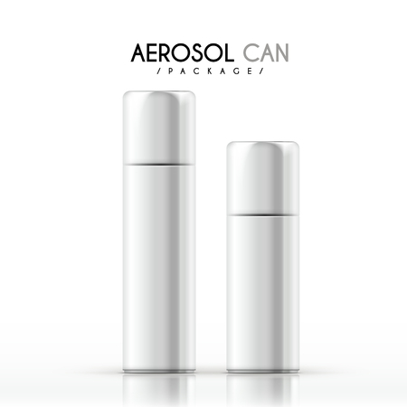 aerosol can package isolated on white background Illustration