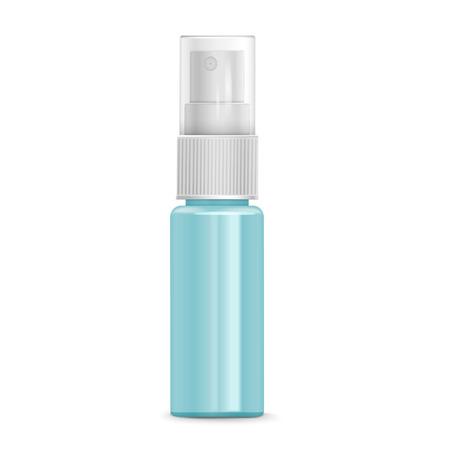 pulverizador: botella de spray cosmético aislado en el fondo blanco