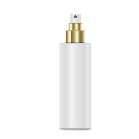 cosmetic: cosmetic white spray bottle isolated on white background Illustration