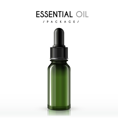essential oil package isolated on white background Ilustração