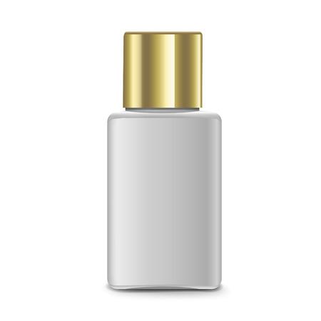 perfumery: elegant perfume bottle isolated on white background Illustration