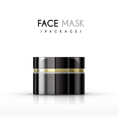 Pacchetto crema maschera viso isolato su sfondo bianco Archivio Fotografico - 45530094