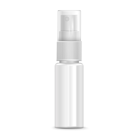 cosmetic spray bottle isolated on white background Illustration