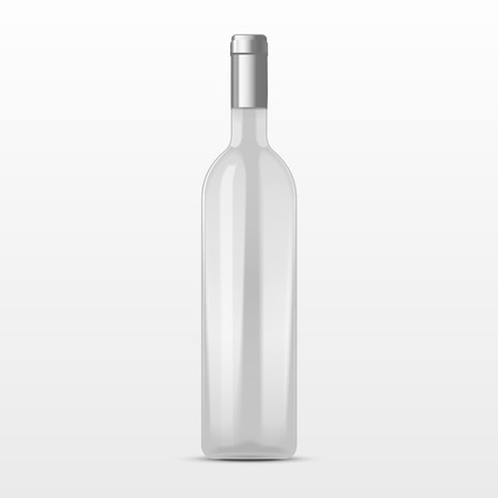 glass bottle: high class champagne bottle isolated on white background