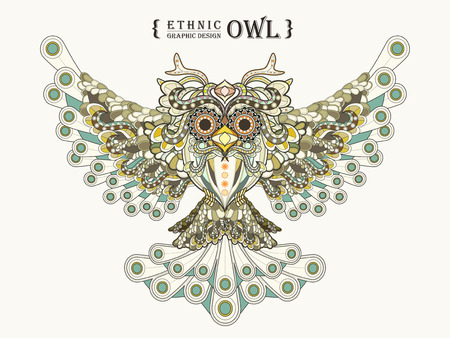 exquisite: gorgeous owl coloring page in exquisite style