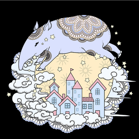 exquisite: adorable tapir coloring page in exquisite style Illustration
