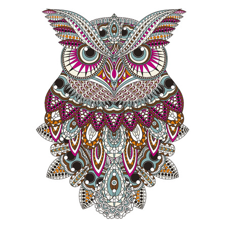 sumptuous: sumptuous owl coloring page in exquisite style