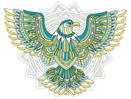 spirits: flying eagle coloring page in exquisite style