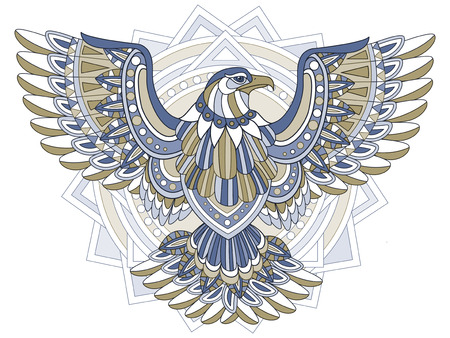 exquisite: flying eagle coloring page in exquisite style
