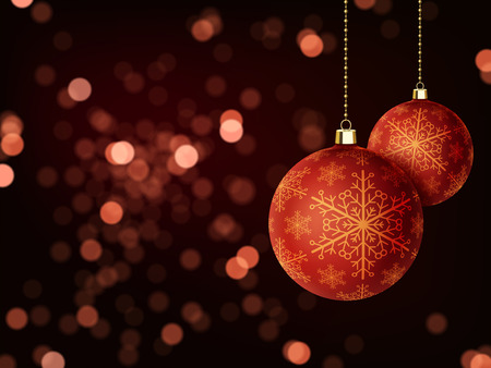 atmosphere: gorgeous Merry Christmas background design with baubles elements Illustration