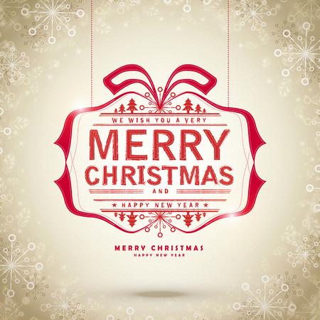 navidad elegante: creative Merry Christmas card design with snowflakes frame