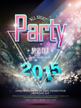 concept design: trendy music party poster design template with geometric elements