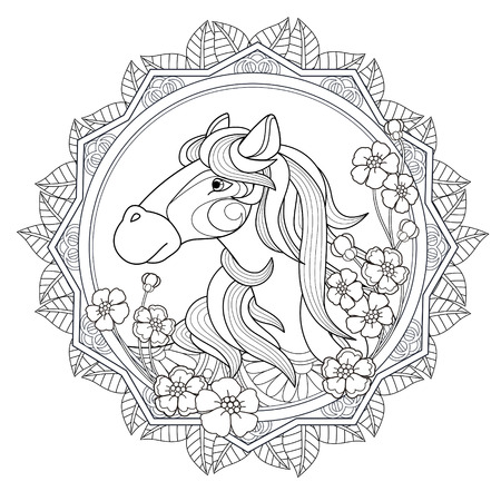 lovely horse coloring page in exquisite style