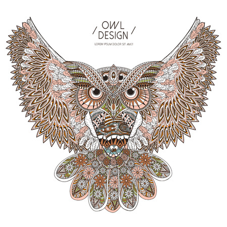 gorgeous: gorgeous owl coloring page design in exquisite style
