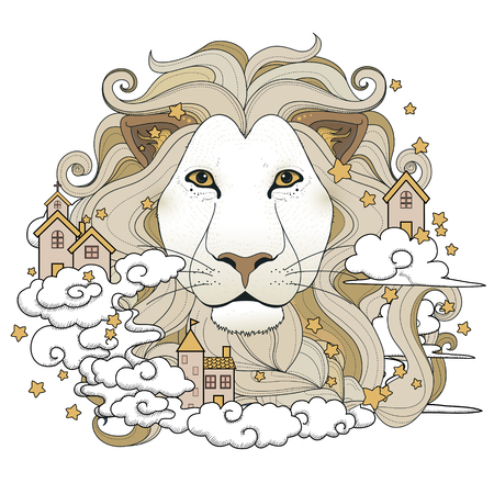 lovely lion coloring page in exquisite style
