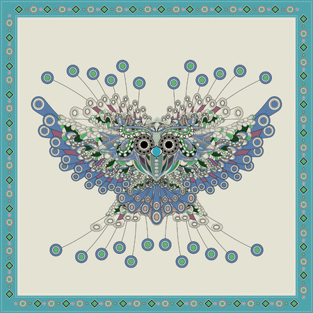 gorgeous: gorgeous owl coloring page in exquisite style