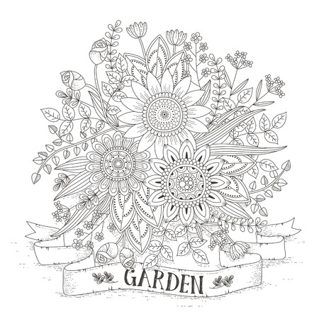 splendid flower coloring page in exquisite style