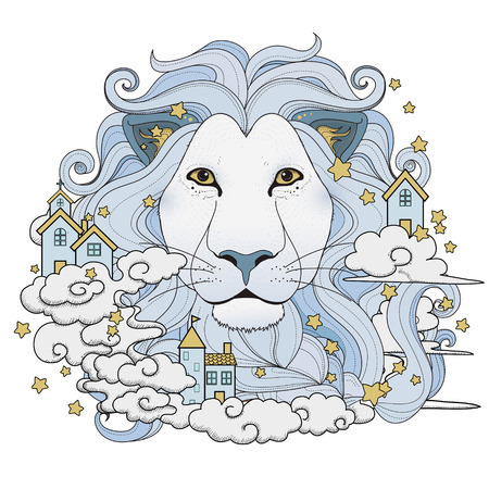 exquisite: lovely lion coloring page in exquisite style