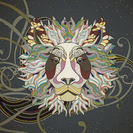 majestic lion coloring page design in exquisite style