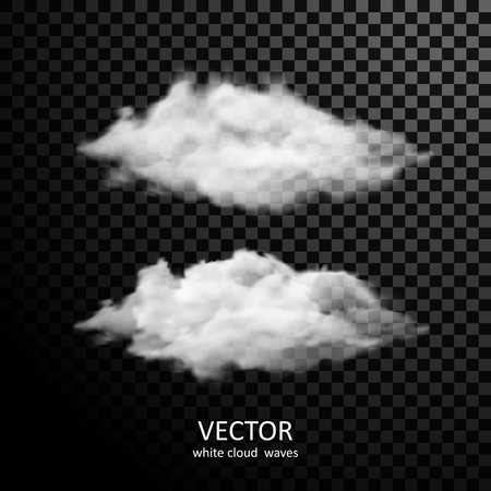white clouds: different white clouds collection on transparent background Illustration
