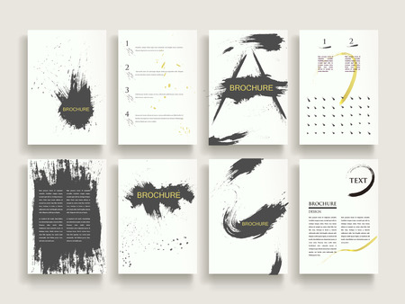 attractive: attractive brochure template design set with brush stroke elements Illustration