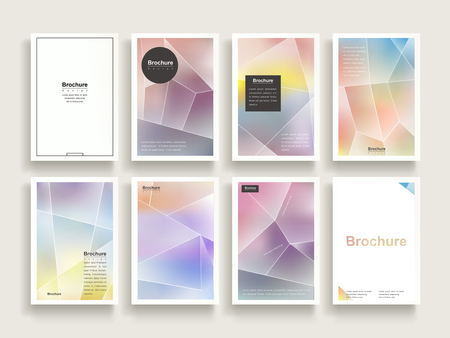 dreamy brochure template design set with polygon elements Illustration