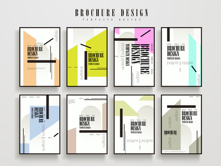 booklet: attractive brochure template design set with geometric elements Illustration