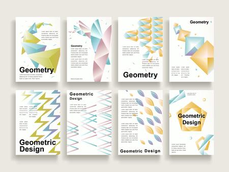graceful: graceful brochure template design set with geometric elements