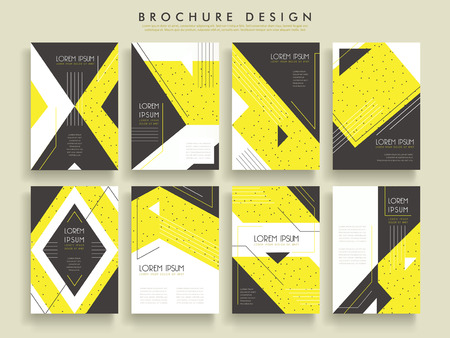 ad: modern brochure template design set with geometric elements Illustration