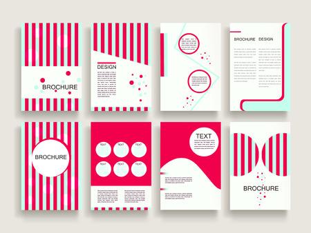modern brochure template design set met geometrische elementen Stock Illustratie