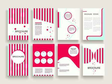 modern brochure template design set with geometric elements Ilustração