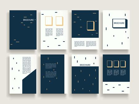 modern brochure template design set with geometric elements Illustration