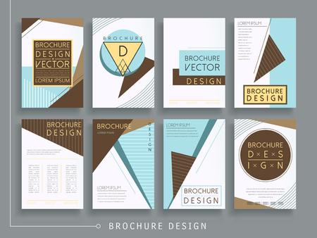 modern brochure template design set with geometric elements 일러스트