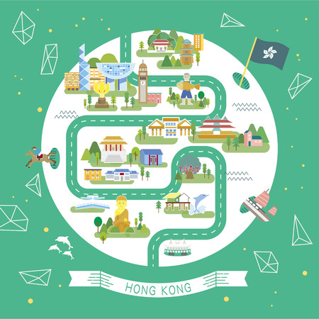 둥근 모양의 아름다운 홍콩 여행 모음