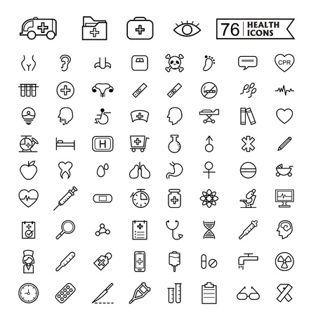 simple and trendy 76 thin line icon for medical concept