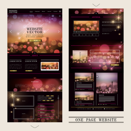 gorgeous one page web design with sparkling elements