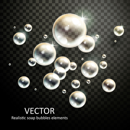 refractions: realistic bubbles with beautiful refractions on transparent background