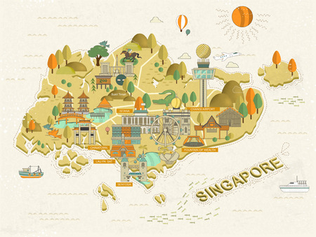 travel map: lovely Singapore must see attractions travel map