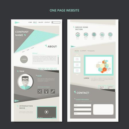 uno: moderno diseño de páginas web con elementos geométricos